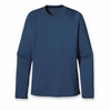 Patagonia Mens Capilene 1 Silkweight Crew Glass Blue (Spring 2014)
