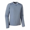 Patagonia Mens Capilene 2 Lightweight Crew Glass Blue w/ Leaden Blue