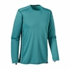 Patagonia Mens Capilene Midweight Crew Underwater Blue/ Howling Turquoise