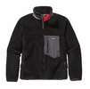Patagonia Mens Classic Retro-X Fleece Jacket Black w/ Forge Grey