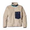 Patagonia Mens Classic Retro-X Fleece Jacket Natural w/ Classic Navy (Past Season)