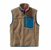 Patagonia Mens Classic Retro-X Fleece Vest Ash Tan