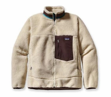 Patagonia Mens Classic Retro-X Jacket Natural w/Java Brown