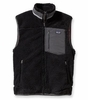 Patagonia Mens Classic Retro-X Vest Black w/ Forge Grey  (Autumn 2014)