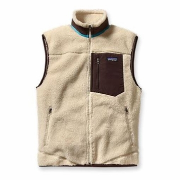 Patagonia Mens Classic Retro-X Vest Natural w/ Java Brown