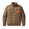 Patagonia Mens Down Snap-T Pullover Ash Tan