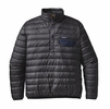 Patagonia Mens Down Snap-T Pullover Forge Grey
