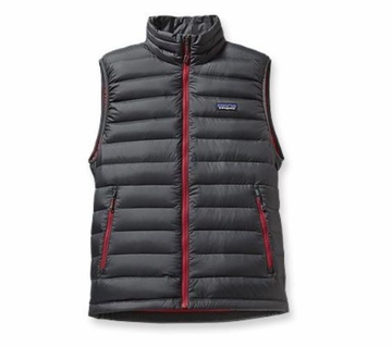 Patagonia Mens Down Sweater Vest Forge Grey (Autumn 2014)