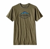 Patagonia Mens Fitz Roy Crest Cotton/ Poly T-Shirt Gorge Green