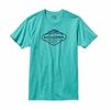 Patagonia Mens Fitz Roy Crest Cotton/Poly T-Shirt Howling Turquoise