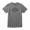 Patagonia Mens Fitz Roy Crest Cotton/Poly T-Shirt Narwhal Grey