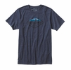 Patagonia Mens Fitz Roy Crest Cotton/Poly T-Shirt Navy Blue