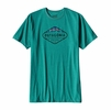 Patagonia Mens Fitz Roy Crest Cotton/ Poly T-Shirt True Teal