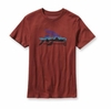 Patagonia Mens Fitz Roy Flying Fish T-Shirt Rusted Iron