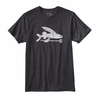 Patagonia Mens Flying Fish Cotton/Poly T-Shirt Black Small