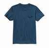 Patagonia Mens Flying Fish Recycled Poly Pocket Responsibili-Tee Glass Blue