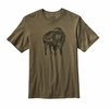 Patagonia Mens Illustrated Buffalo Cotton T-Shirt Fatigue Green