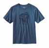 Patagonia Mens Illustrated Buffalo Cotton T-Shirt Glass Blue