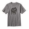 Patagonia Mens Illustrated Buffalo Cotton T-Shirt Gravel Heather