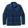 Patagonia Mens Insulated Fjord Flannel Jacket Comstock: Deep Mahogany