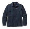 Patagonia Mens Insulated Fjord Flannel Jacket Smolder Blue