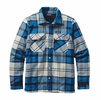 Patagonia Mens Insulated Fjord Flannel Jacket Sugar Pine: Bandana Blue