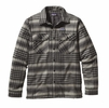 Patagonia Mens Insulated Fjord Flannel Jacket Winter Dusk: Black