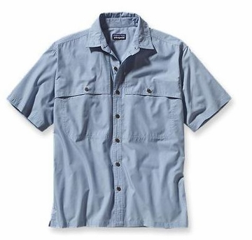 Patagonia Mens Island Hopper Shirt Chambray: Leaden Blue (Spring 2014)