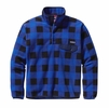Patagonia Mens Lightweight Synchilla Snap-T Fleece Pullover Fuzzy Plaid: Andes Blue (Autumn 2014)