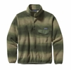 Patagonia Mens Lightweight Synchilla Snap-T Fleece Pullover Hand Dipped: Camp Green