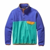 Patagonia Mens Lightweight Synchilla Snap-T Fleece Pullover Howling Turquoise