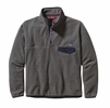 Patagonia Mens Lightweight Synchilla Snap-T Fleece Pullover Nickel w/ Navy Blue Large