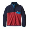 Patagonia Mens Lightweight Synchilla Snap-T Fleece Pullover Raspen Red