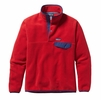 Patagonia Mens Lightweight Synchilla Snap-T Fleece Pullover Totally Red