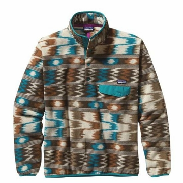 Patagonia Mens Lightweight Synchilla Snap-T Pullover Nepali Dhoti: Sepia Brown (Spring 2014)