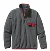 Patagonia Mens Lightweight Synchilla Snap-T Pullover Nickel w/ Wax Red (Spring 2014)