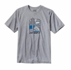 Patagonia Mens Live Simply Landscape Recycled Cotton/Poly Responsibili-Tee Drifter Grey