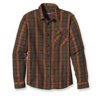Patagonia Mens Long Sleeve Iron Ridge Shirt Gaston: Eclectic Orange (Autumn 2013)