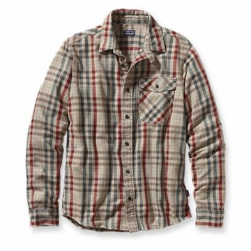 Patagonia Mens Long Sleeve Iron Ridge Shirt Yabo: Retro Khaki (Autumn 2013)