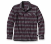 Patagonia Mens Long-Sleeved Fjord Flannel Shirt Blanket Stripe: Feather Grey