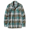 Patagonia Mens Long-Sleeved Fjord Flannel Shirt Double Lutz: Fatigue Green