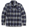 Patagonia Mens Long-Sleeved Fjord Flannel Shirt Hayburner: Classic Navy