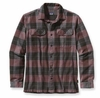 Patagonia Mens Long-Sleeved Fjord Flannel Shirt Hayburner: Java Brown