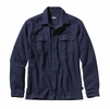 Patagonia Mens Long-Sleeved Fjord Flannel Shirt Navy Blue
