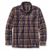 Patagonia Mens Long-Sleeved Fjord Flannel Shirt Saucer Pass: Classic Navy