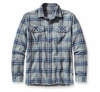 Patagonia Mens Long-Sleeved Fjord Flannel Shirt Saucer Pass: Feather Grey