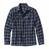 Patagonia Mens Long-Sleeved Fjord Flannel Shirt Tactile: Navy Blue