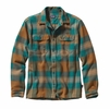 Patagonia Mens Long-Sleeved Fjord Flannel Shirt Terrace: Arbor Green