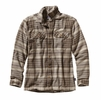 Patagonia Mens Long-Sleeved Fjord Flannel Shirt Winter Dusk: Ash Tan