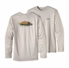 Patagonia Mens Long-Sleeved Graphic Tech Fish Tee Fly: Tailored Grey